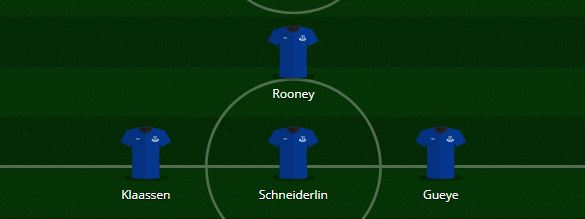 Wayne Rooney Everton 2017-18 position